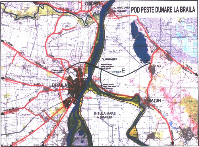 Una dintre nenumaratele harti ale podului