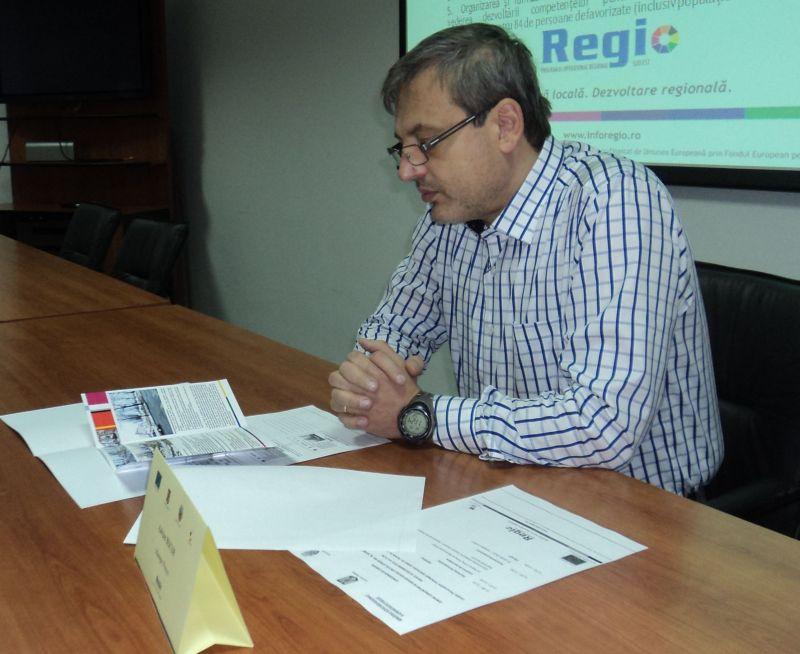 Adrian Bucur, directorul Directiei de Dezvoltare din cadrul Primariei Galati