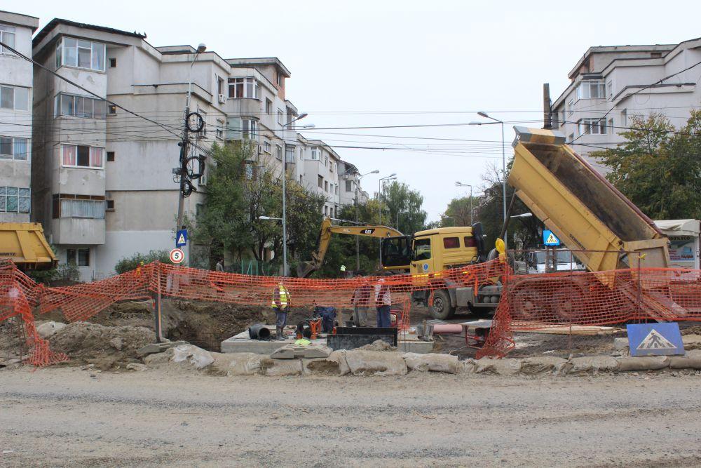 lucrari pe strada Anghel Saligny