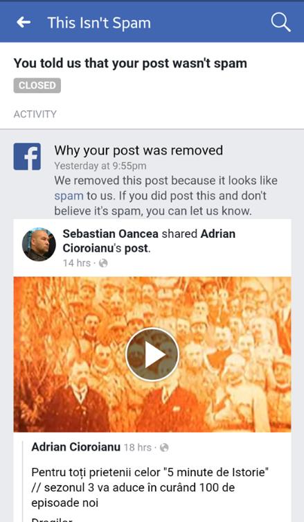 Sebastian Oancea a fost blocat pe Facebook